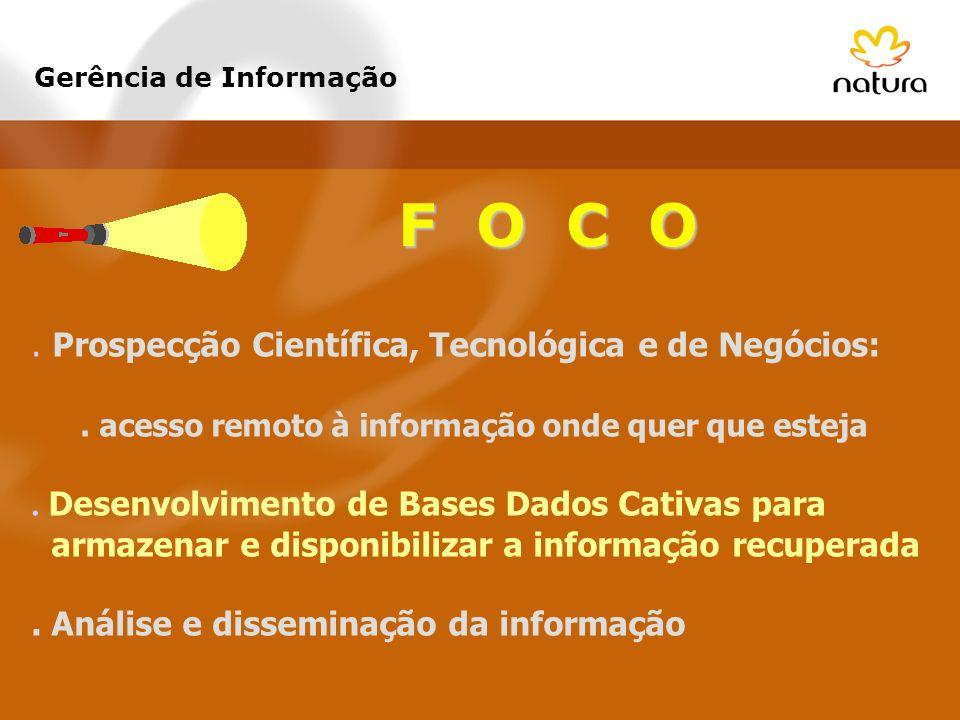 F O C O. Prospecção Científica, Tecnológica e de Negócios:. acesso remoto à informação onde quer que esteja. Desenvolvimento de Bases Dados Cativas pa