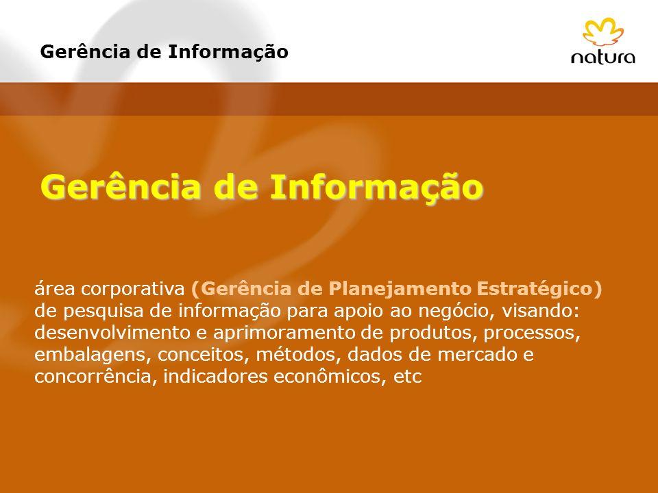 área corporativa (Gerência de Planejamento Estratégico) de pesquisa de informação para apoio ao negócio, visando: desenvolvimento e aprimoramento de p