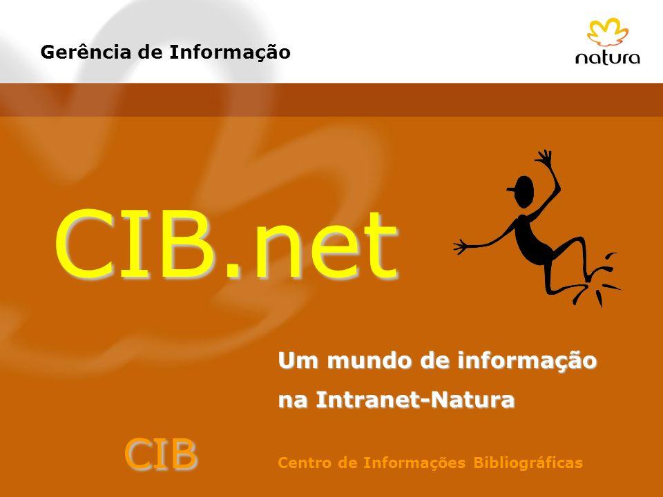 Gerência de Informação CIB.net Um mundo de informação na Intranet-Natura CIB CIB Centro de Informações Bibliográficas