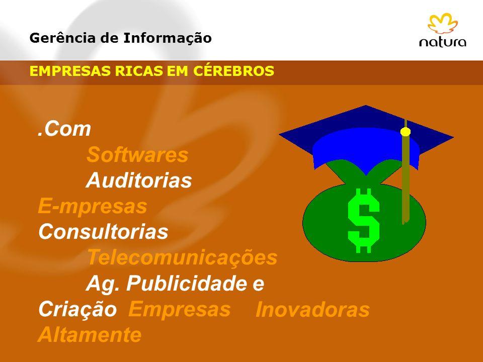 Gerência de Informação.Com Softwares Auditorias E-mpresas Consultorias Telecomunicações Ag. Publicidade e Criação Empresas Altamente Inovadoras EMPRES