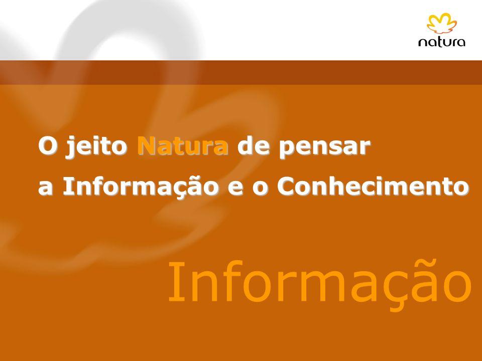 O jeito Natura de pensar a Informação e o Conhecimento a Informação e o Conhecimento Informação