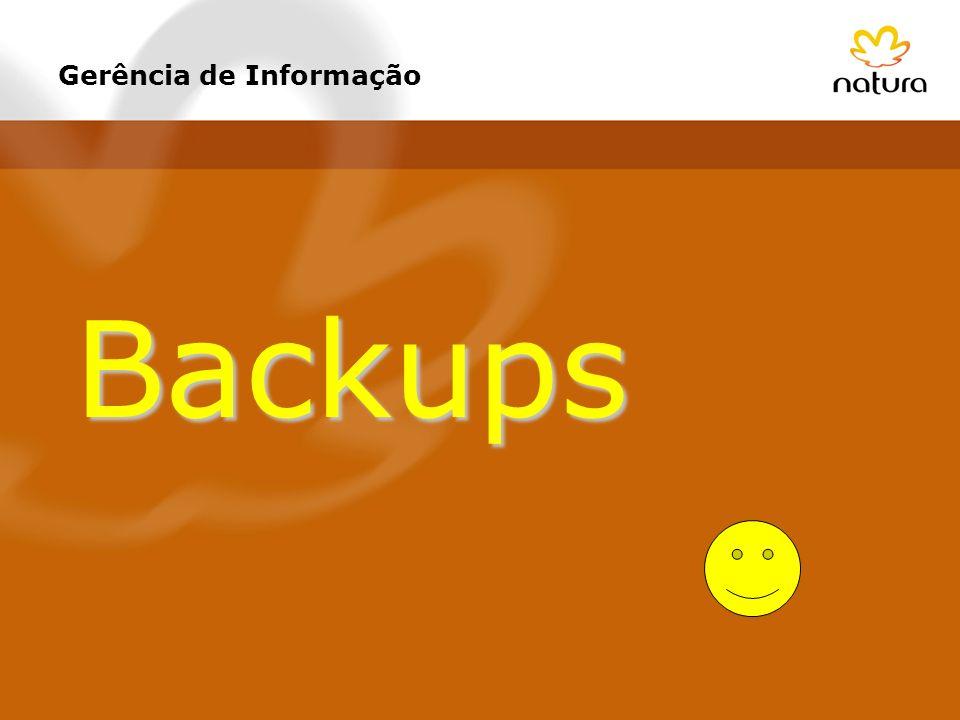 Gerência de Informação Backups