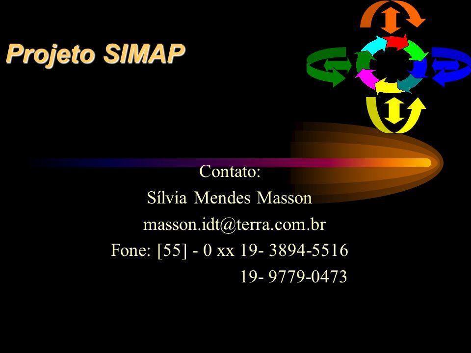 Projeto SIMAP Contato: Sílvia Mendes Masson masson.idt@terra.com.br Fone: [55] - 0 xx 19- 3894-5516 19- 9779-0473