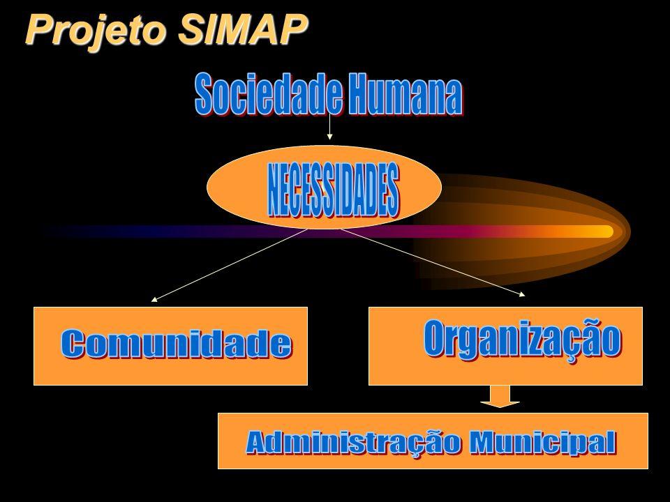 Projeto SIMAP Contexto social: - A Sociedade da Informação apresenta: convívio das especializações com a pluralidade; alteração contínua de dogmas vigentes; leitura polivalente do real.