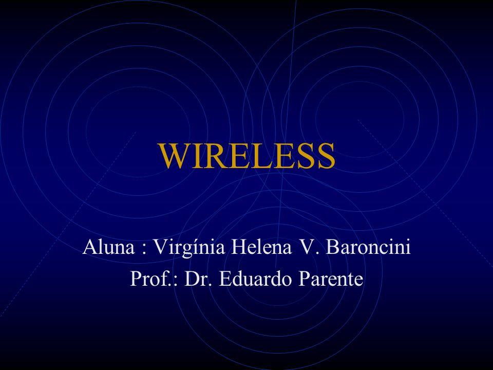 Wireless LAN As WLANs são implementadas com uma ligação final entre a rede cabeada existente e um grupo de computadores.