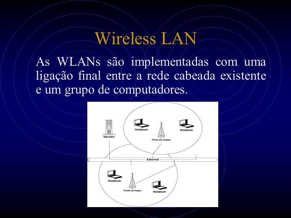 Aceitação da WLAN O IEEE ratificou a especificação original 802.11 em 1997 como a norma para LAN sem fio.