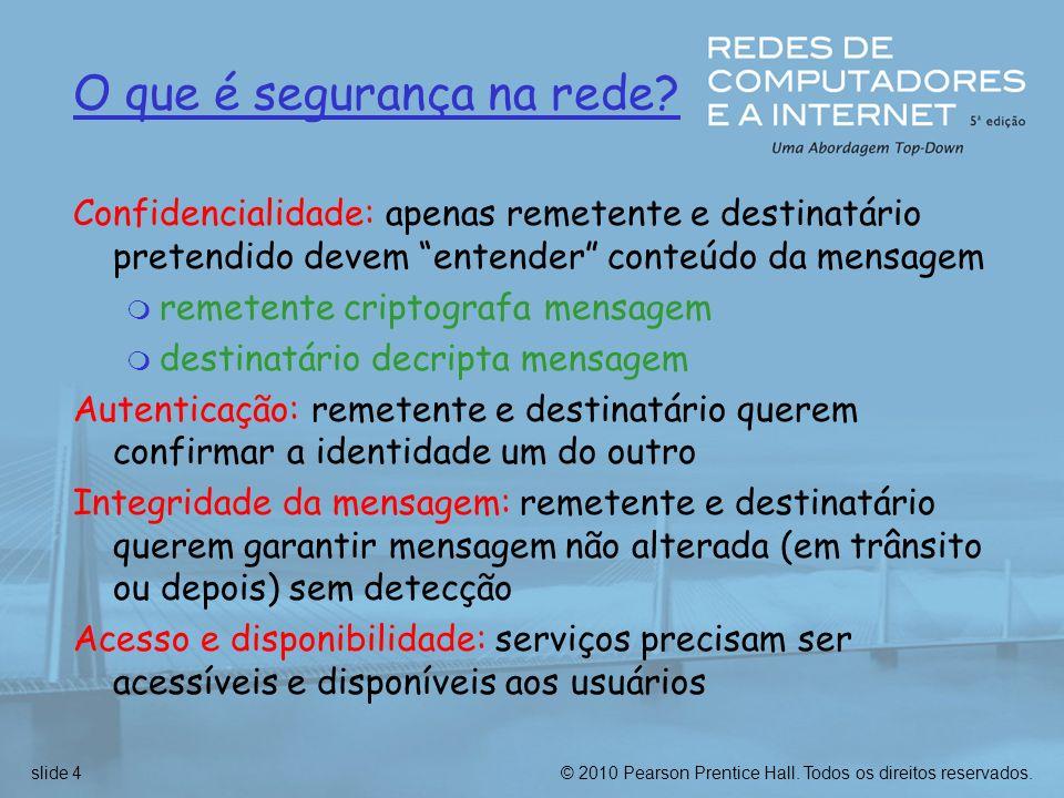 © 2010 Pearson Prentice Hall. Todos os direitos reservados.slide 95 r também modo túnel IPsec