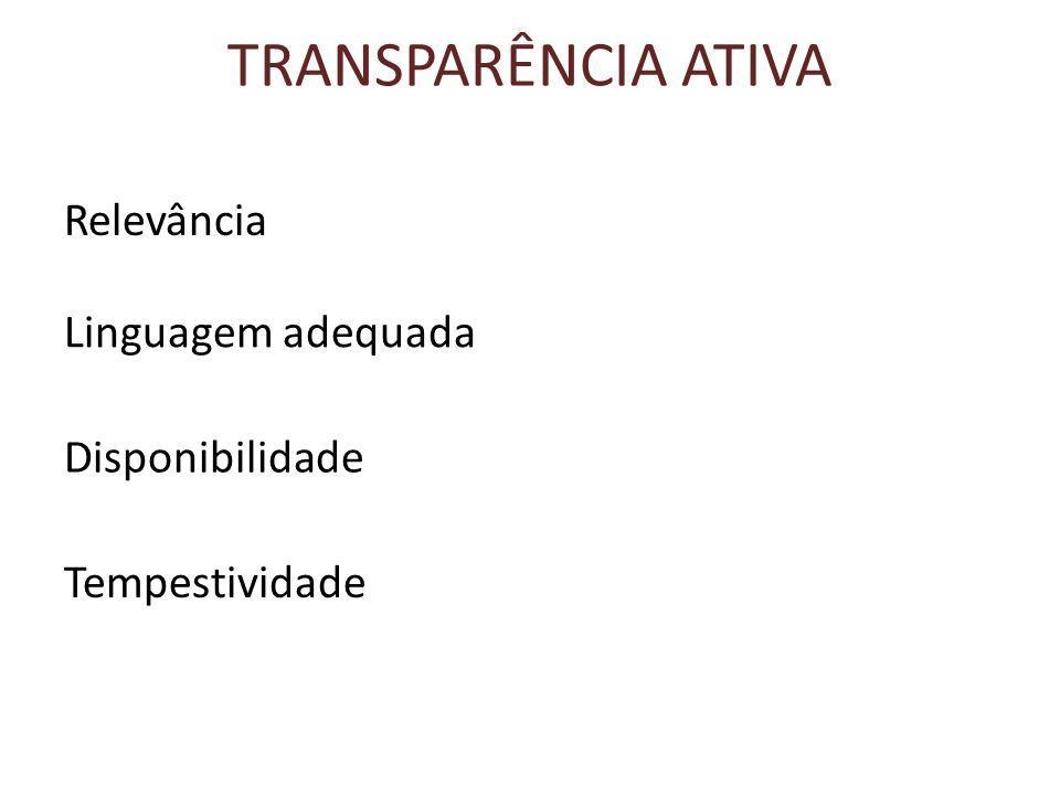 PÁGINAS DE TRANSPARÊNCIA Informações disponíveis Licitações Contratos Diárias e passagens