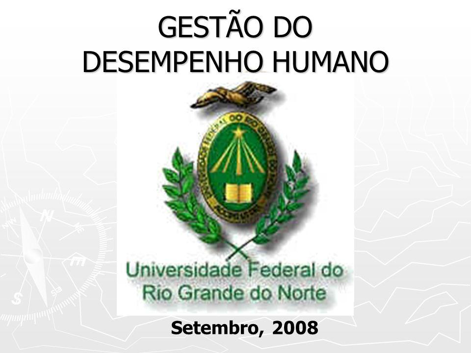 GESTÃO DO DESEMPENHO HUMANO Setembro, 2008