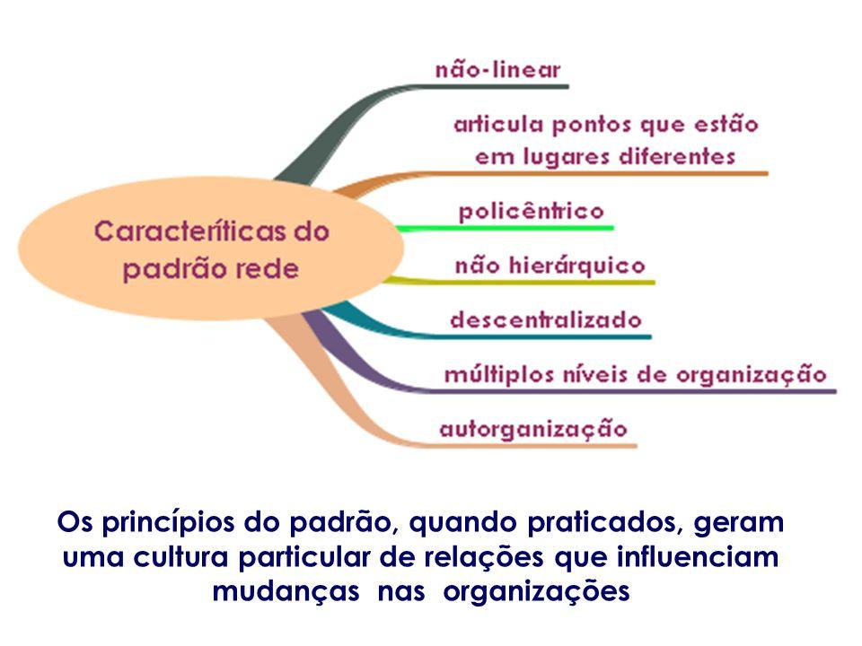 Os princípios do padrão, quando praticados, geram uma cultura particular de relações que influenciam mudanças nas organizações