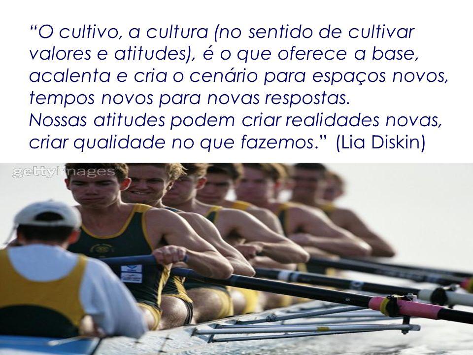 O cultivo, a cultura (no sentido de cultivar valores e atitudes), é o que oferece a base, acalenta e cria o cenário para espaços novos, tempos novos p