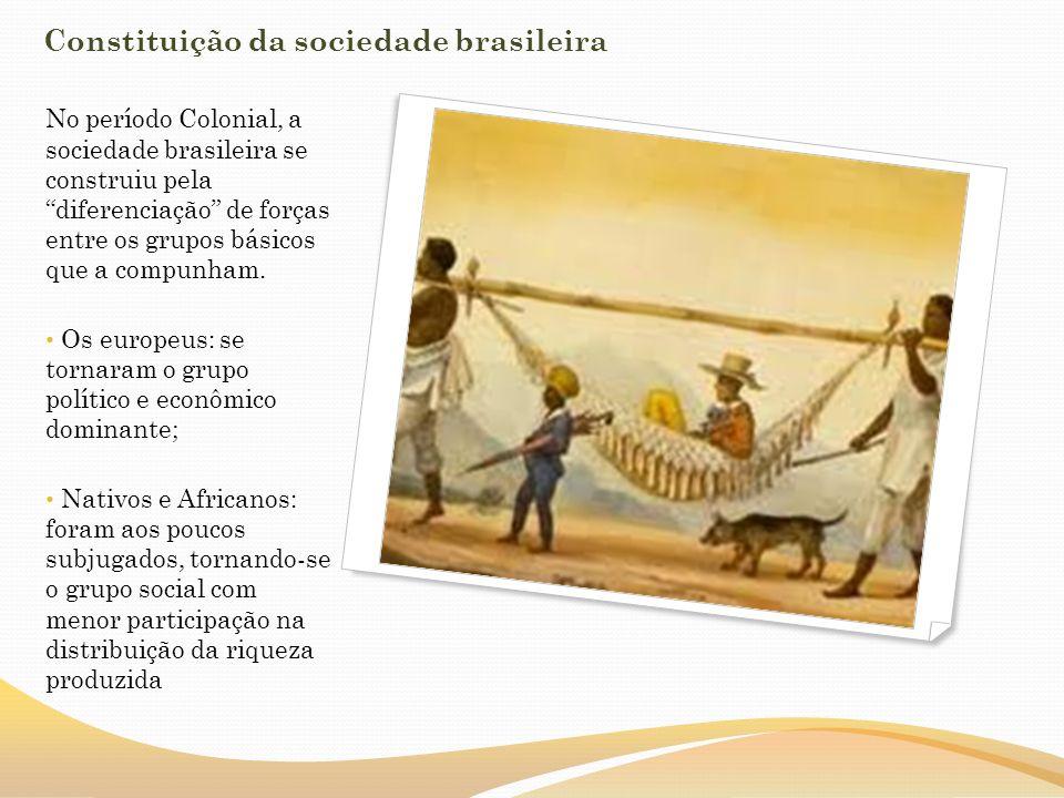 A escravidão, tanto indígena quando negra, deu forma à sociedade brasileira.