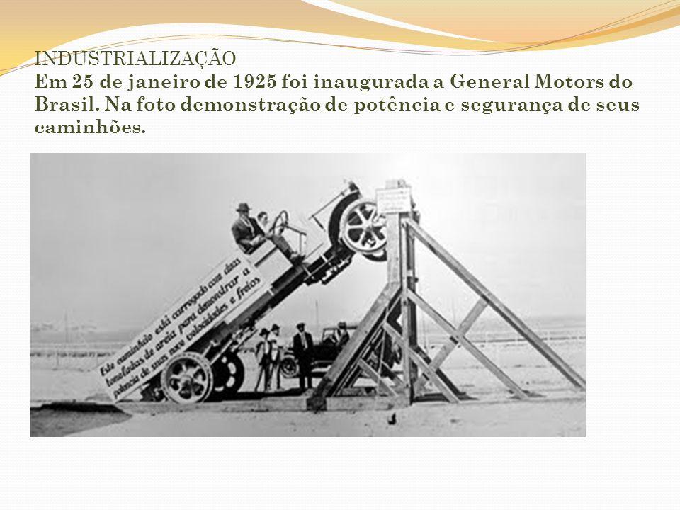 INDUSTRIALIZAÇÃO Indústrias Cisper, década de 1920.