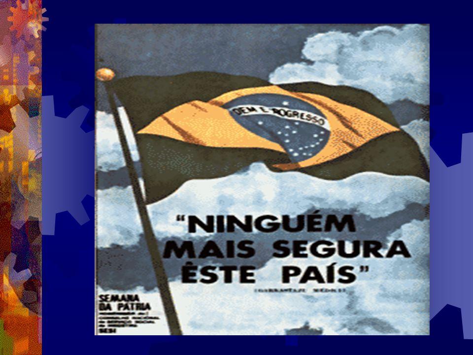 GOVERNO MÉDICI (1969-1974) Milagre brasileiro ( a economia vai bem o povo vai mal). Aumento no índice de terrorismo ( guerrilha e repressão governamen