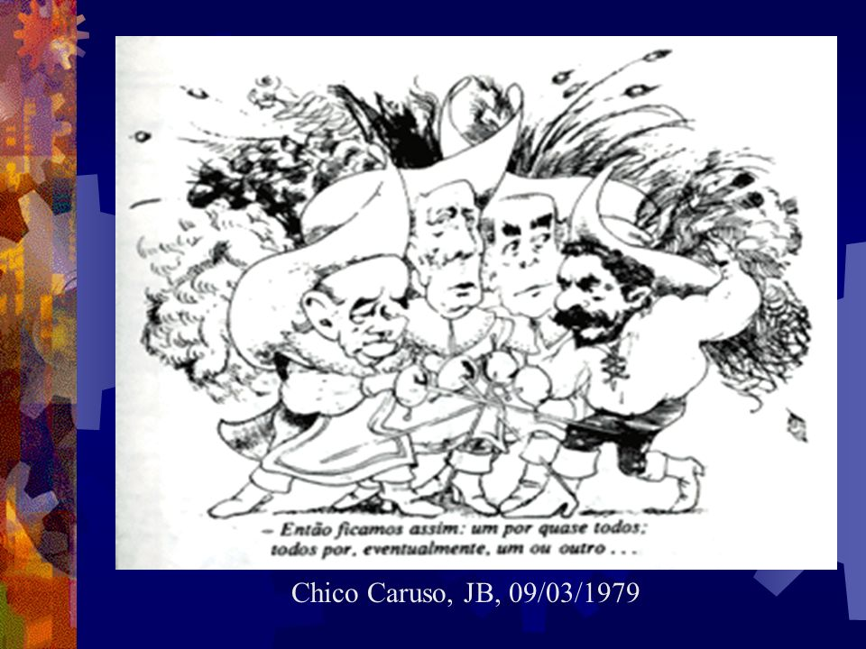GOVERNO FIGUEIREDO (1979-1984) Processo de redemocratização gradual. Anistia aos presos políticos e exilados. Extinção do bipartidarismo, com surgimen