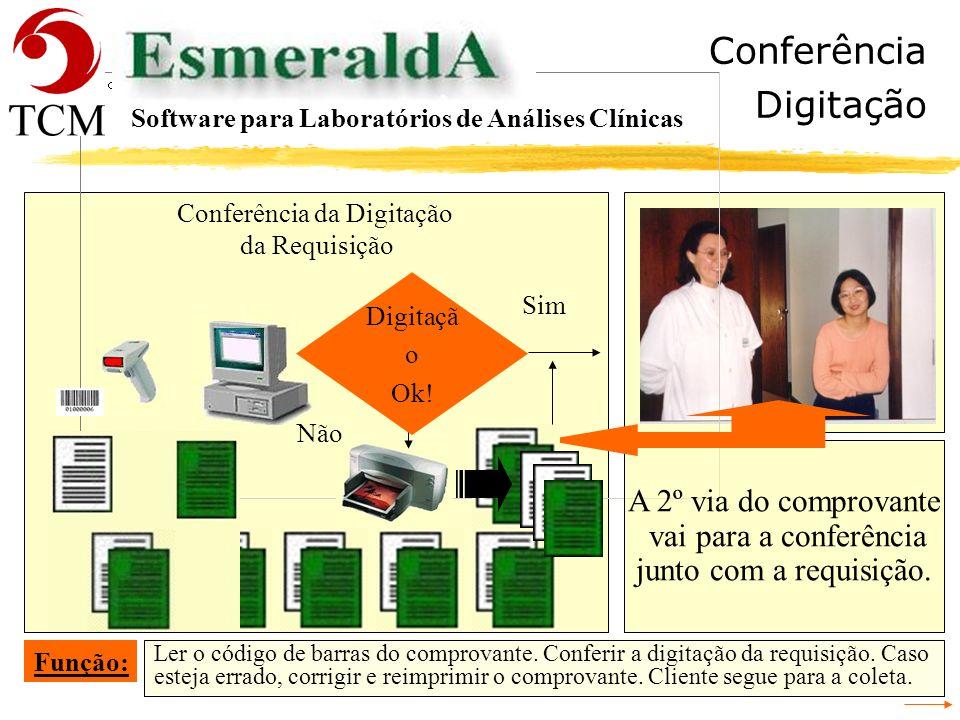 Tópicos Requisição Software para Laboratórios de Análises Clínicas - Recepção - Cadastrar a Requisição - Conferência da Digitação da Requisição - Iden