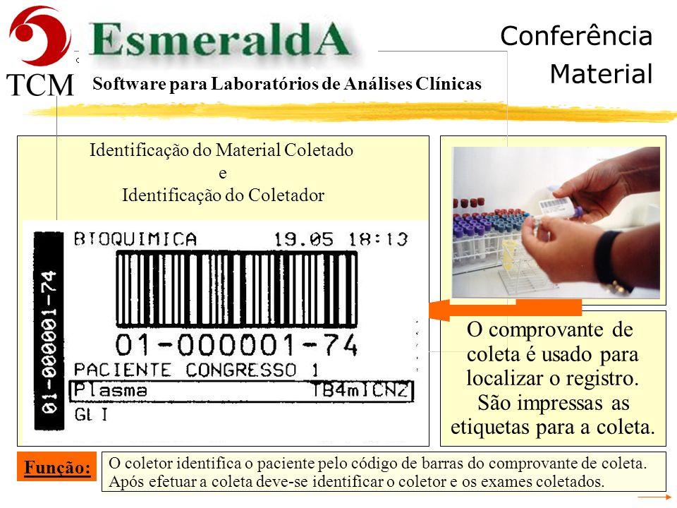 Tópicos Digitação Software para Laboratórios de Análises Clínicas - Recepção - Cadastrar a Requisição - Conferência da Digitação da Requisição - Ident