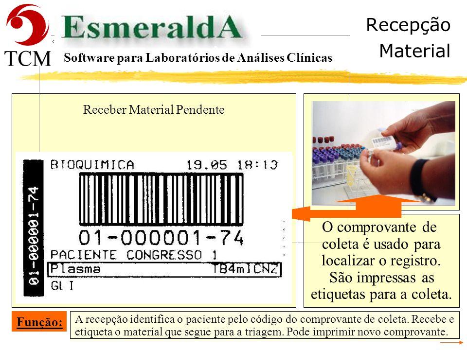 Tópicos Ler Tubos Software para Laboratórios de Análises Clínicas - Recepção - Cadastrar a Requisição - Conferência da Digitação da Requisição - Ident
