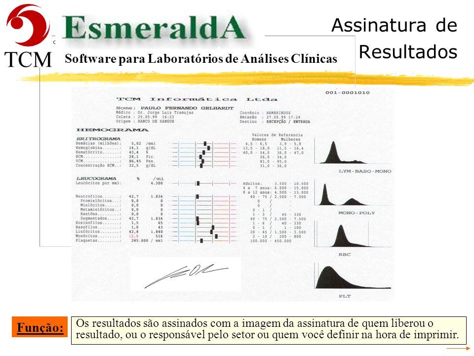 Liberação de Resultados Acesso aos resultados anteriores do cliente. Todos os exames podem ser consultados independente da data de realização. Função: