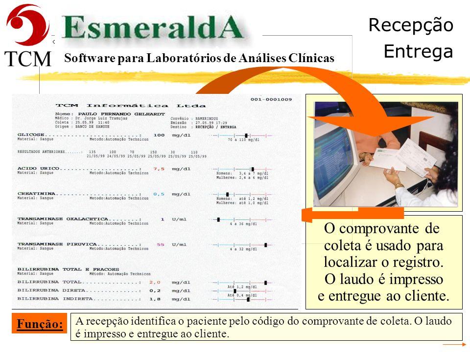 Tópicos Resultados Software para Laboratórios de Análises Clínicas - Recepção - Cadastrar a Requisição - Conferência da Digitação da Requisição - Iden
