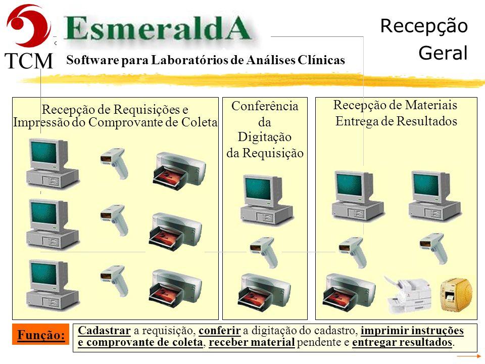 Tópicos Gerais Software para Laboratórios de Análises Clínicas - Recepção - Cadastrar a Requisição - Conferência da Digitação da Requisição - Identifi