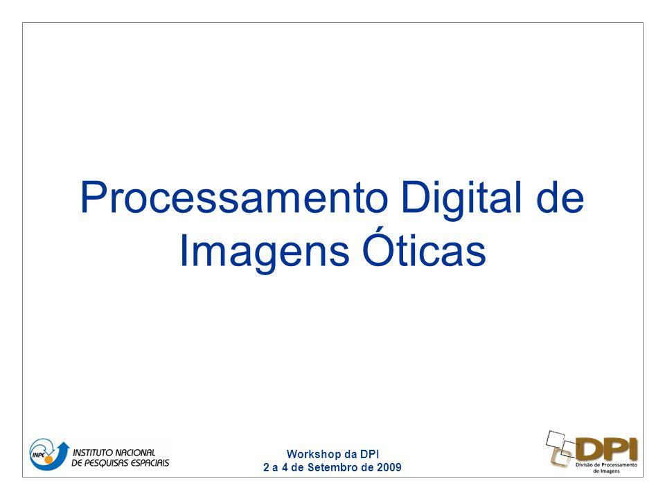 Workshop da DPI 2 a 4 de Setembro de 2009 Processamento Digital de Imagens Óticas