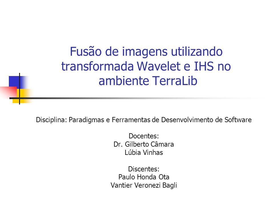 Fusão de imagens utilizando transformada Wavelet e IHS no ambiente TerraLib Disciplina: Paradigmas e Ferramentas de Desenvolvimento de Software Docent