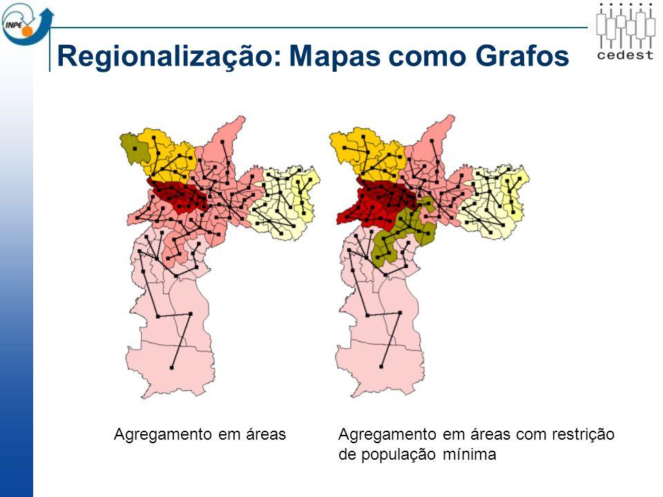 Agregamento em áreasAgregamento em áreas com restrição de população mínima
