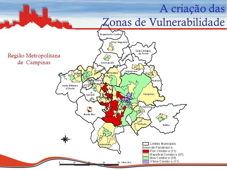 A criação das Zonas de Vulnerabilidade Região Metropolitana de Campinas