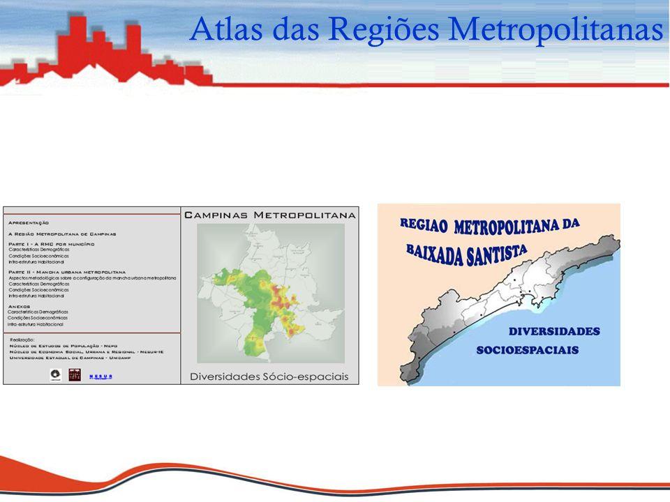 Atlas das Regiões Metropolitanas