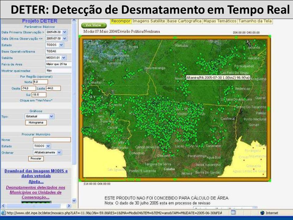 DETER: Detecção de Desmatamento em Tempo Real