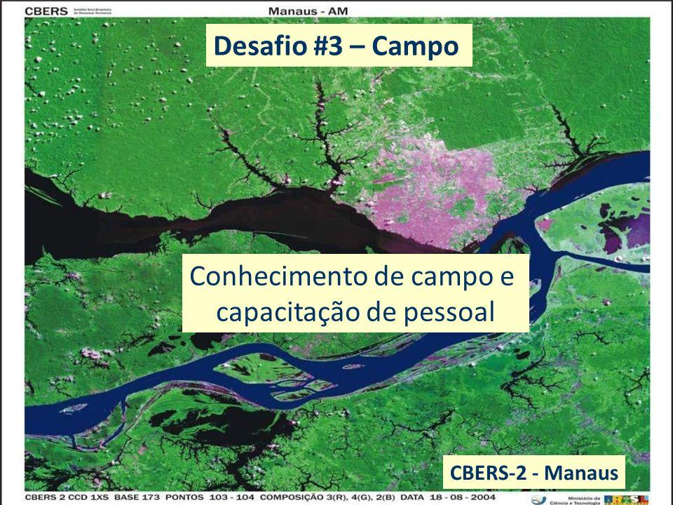 EO data: benefits to everyone Conhecimento de campo e capacitação de pessoal CBERS-2 - Manaus Desafio #3 – Campo