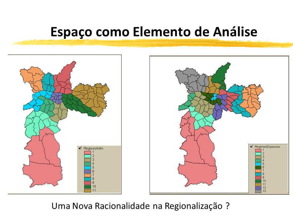 Espaço como Elemento de Análise Uma Nova Racionalidade na Regionalização