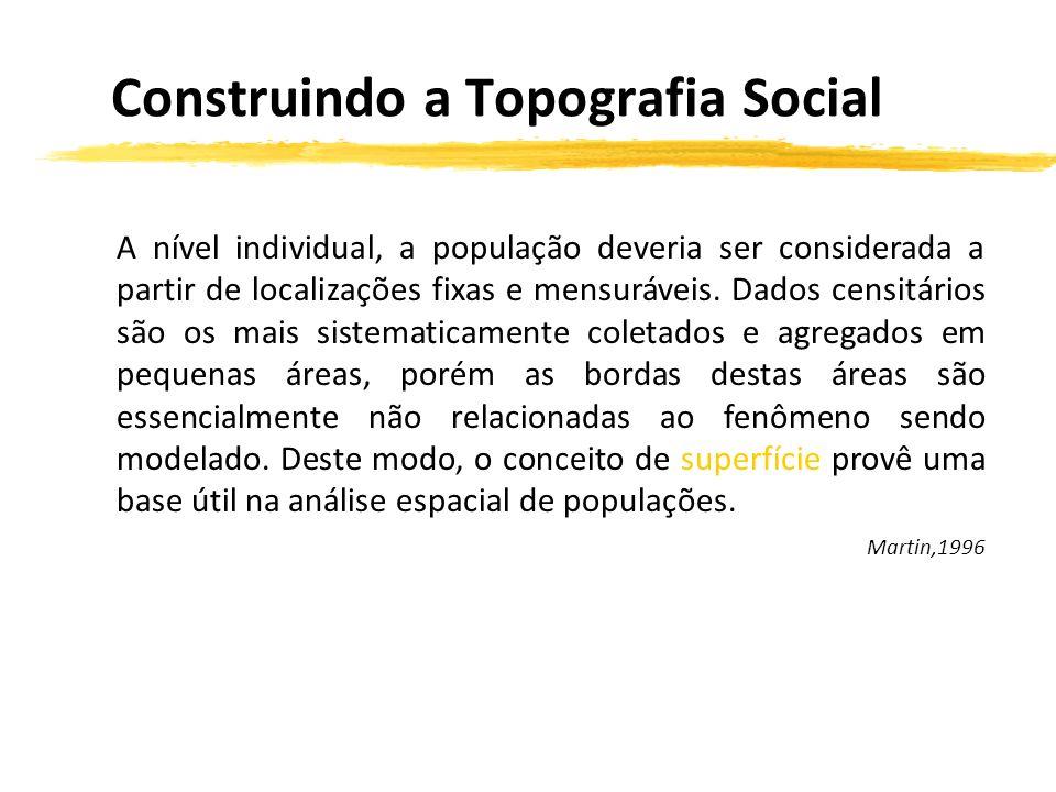 A nível individual, a população deveria ser considerada a partir de localizações fixas e mensuráveis.