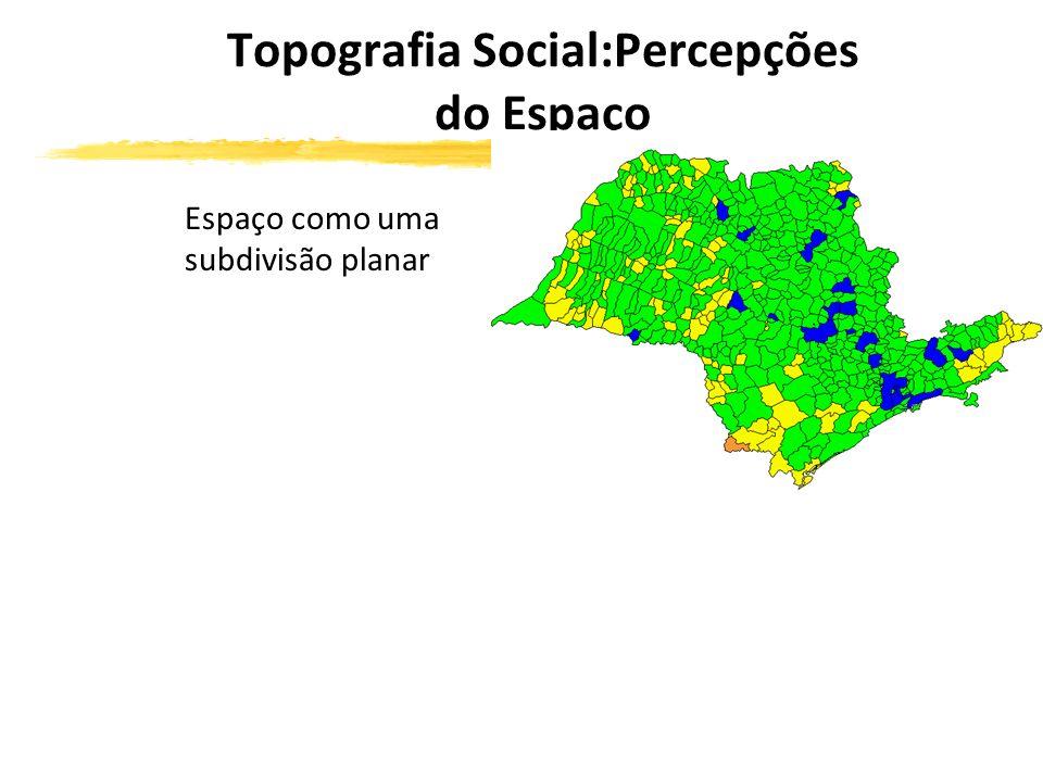Topografia Social:Percepções do Espaço Espaço como uma subdivisão planar