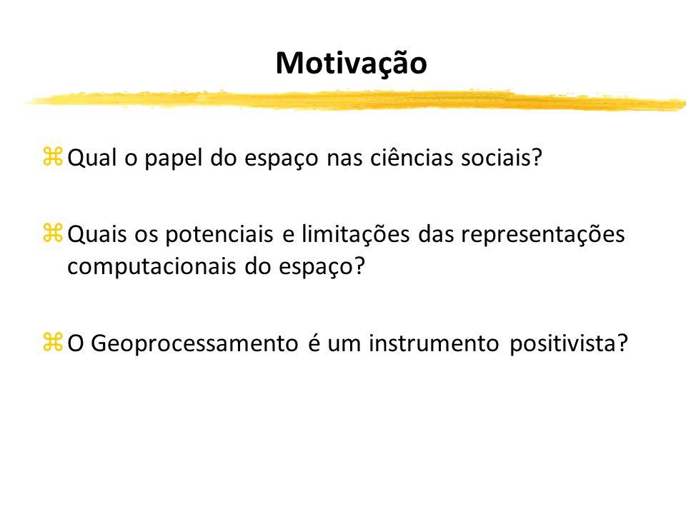 Motivação zQual o papel do espaço nas ciências sociais.