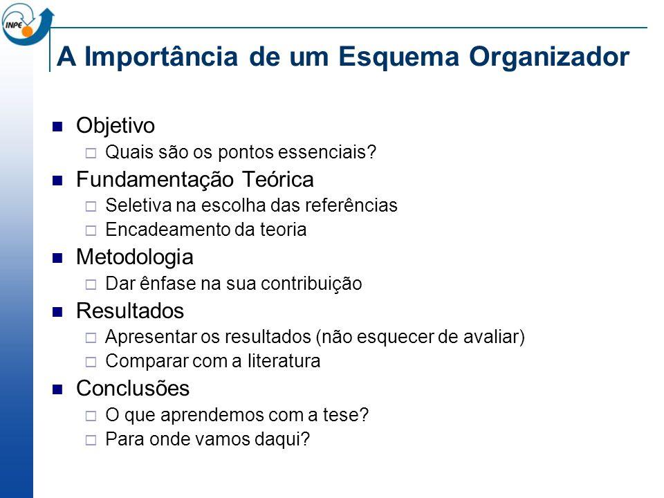 A Importância de um Esquema Organizador Objetivo Quais são os pontos essenciais.