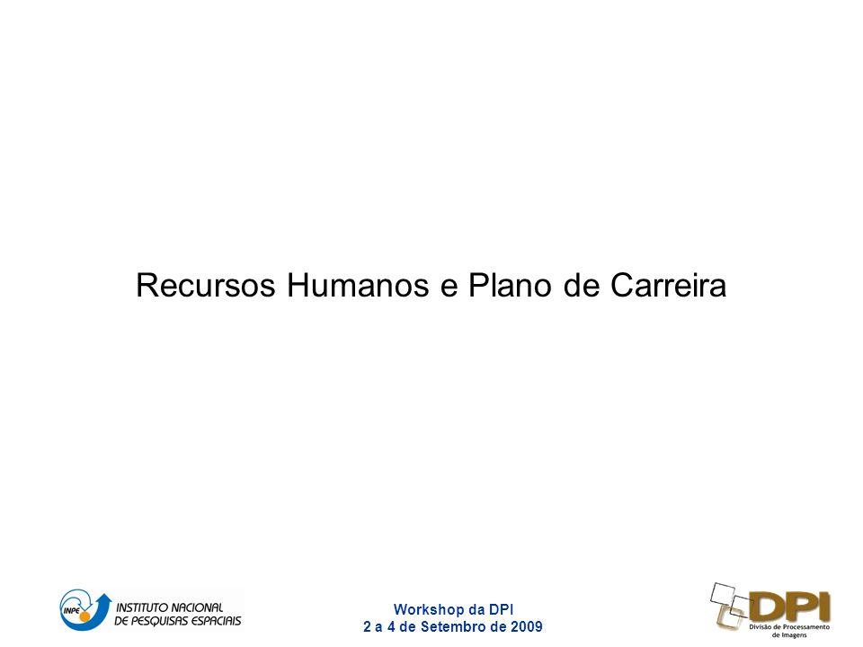 Workshop da DPI 2 a 4 de Setembro de 2009 1 Recursos Humanos e Plano de Carreira