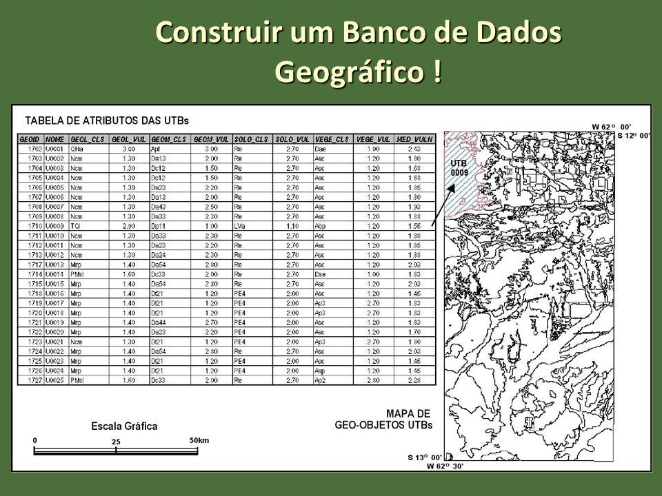 Construir um Banco de Dados Geográfico !