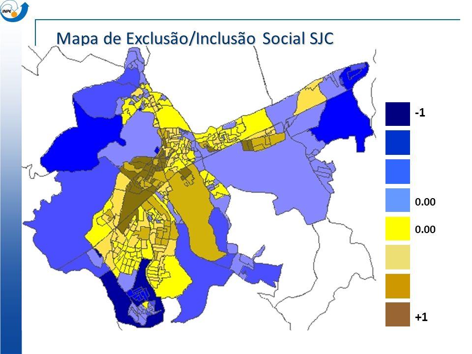 Mapa de Exclusão/Inclusão Social SJC 0.00 +1