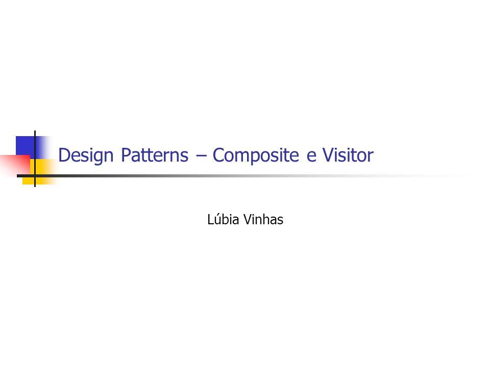 Design Patterns – Composite e Visitor Lúbia Vinhas