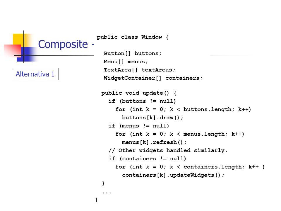 Multi-paradigma em ação Reuso Economia de código Composite – Exemplo Geometrias