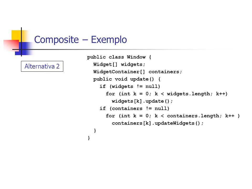 TerraLib - Geometrias Geometrias completamente diferentes possuem um comportamento similar definido pelo padrão composite