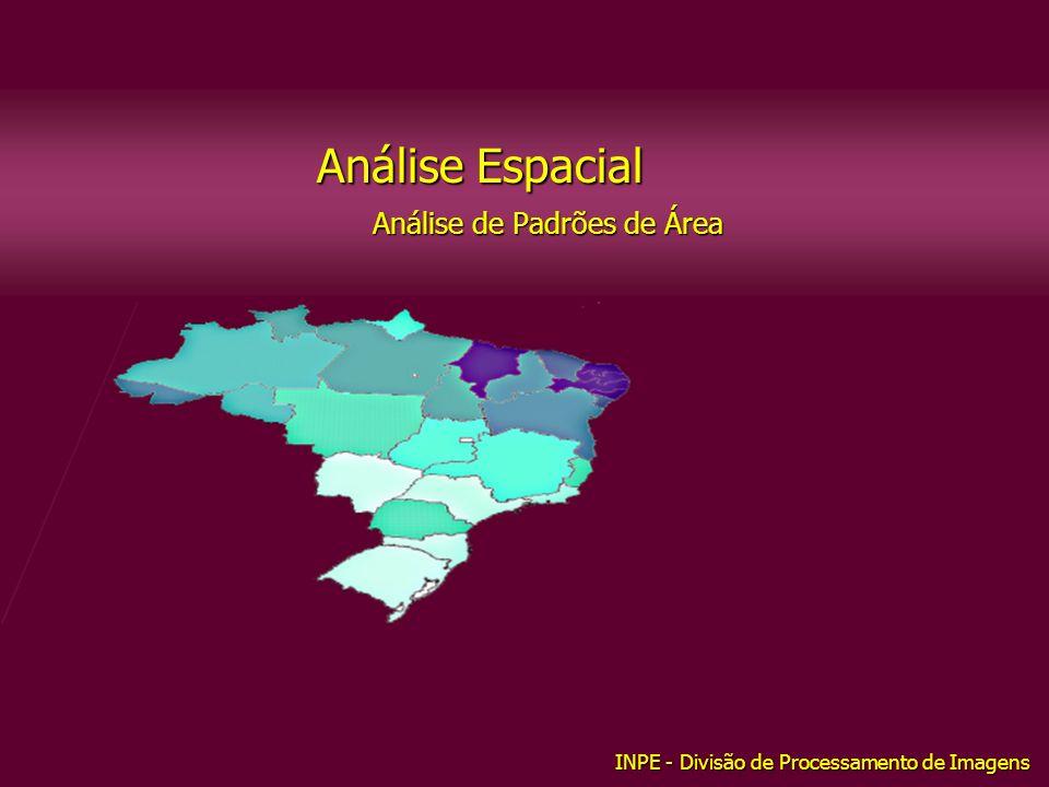 Análise Espacial Análise de Padrões de Área INPE - Divisão de Processamento de Imagens