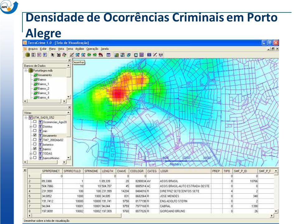 Densidade de Ocorrências Criminais em Porto Alegre