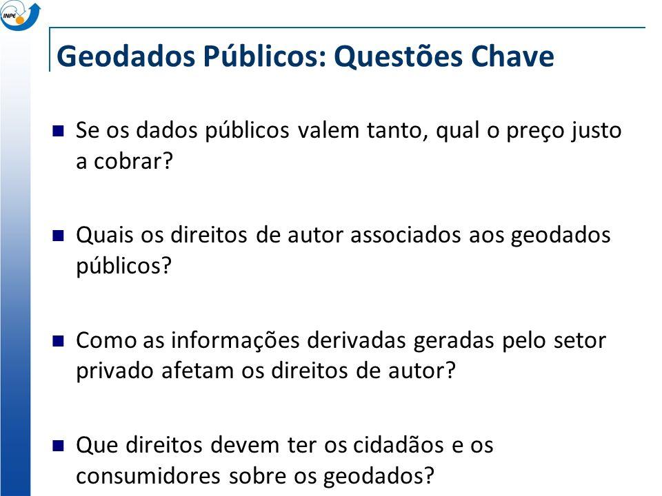 Geodados Públicos: Questões Chave Se os dados públicos valem tanto, qual o preço justo a cobrar.