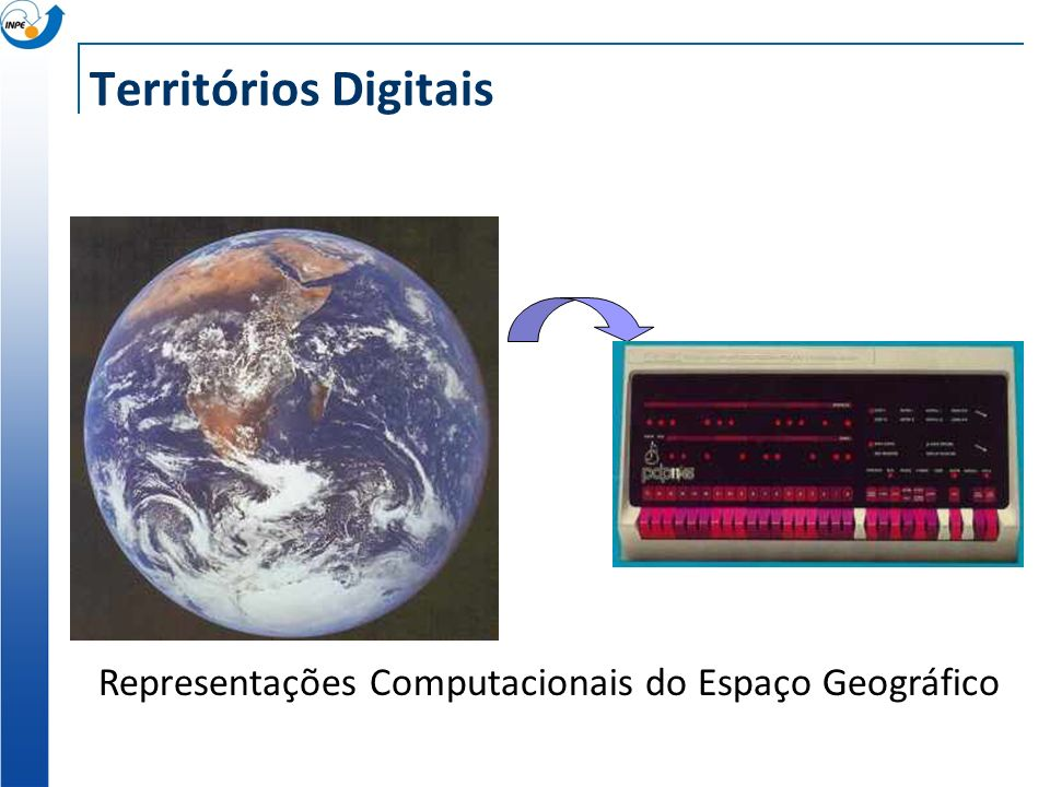 Territórios Digitais Representações Computacionais do Espaço Geográfico