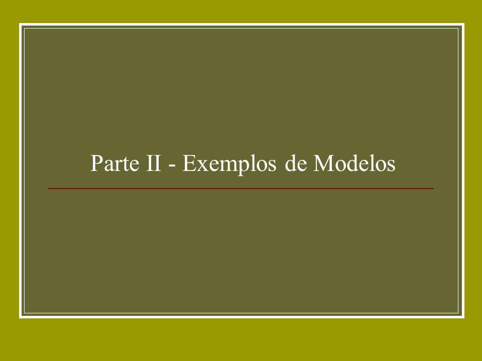 Parte II - Exemplos de Modelos