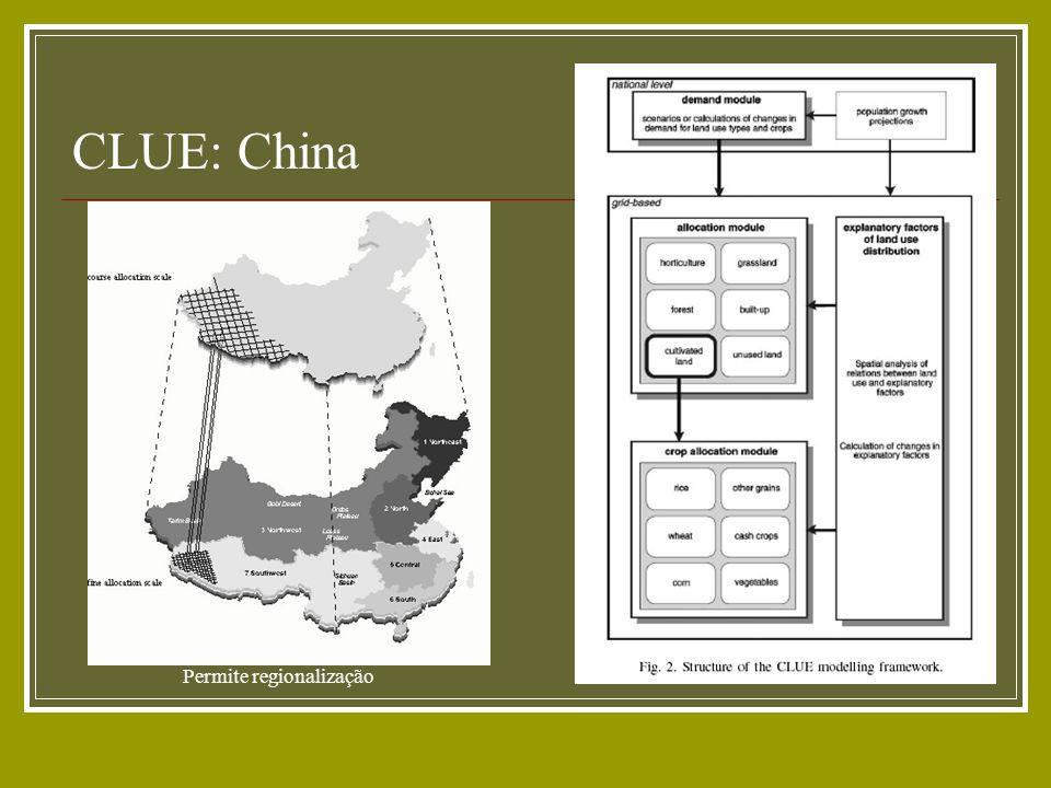 CLUE: China Permite regionalização