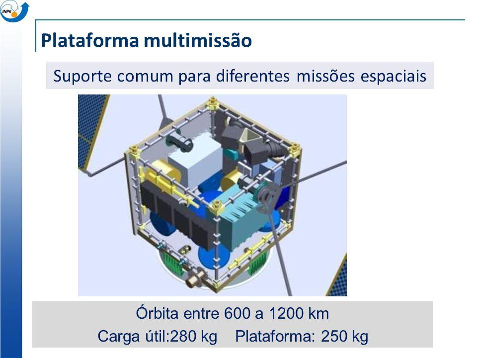 Plataforma multimissão Suporte comum para diferentes missões espaciais Órbita entre 600 a 1200 km Carga útil:280 kg Plataforma: 250 kg